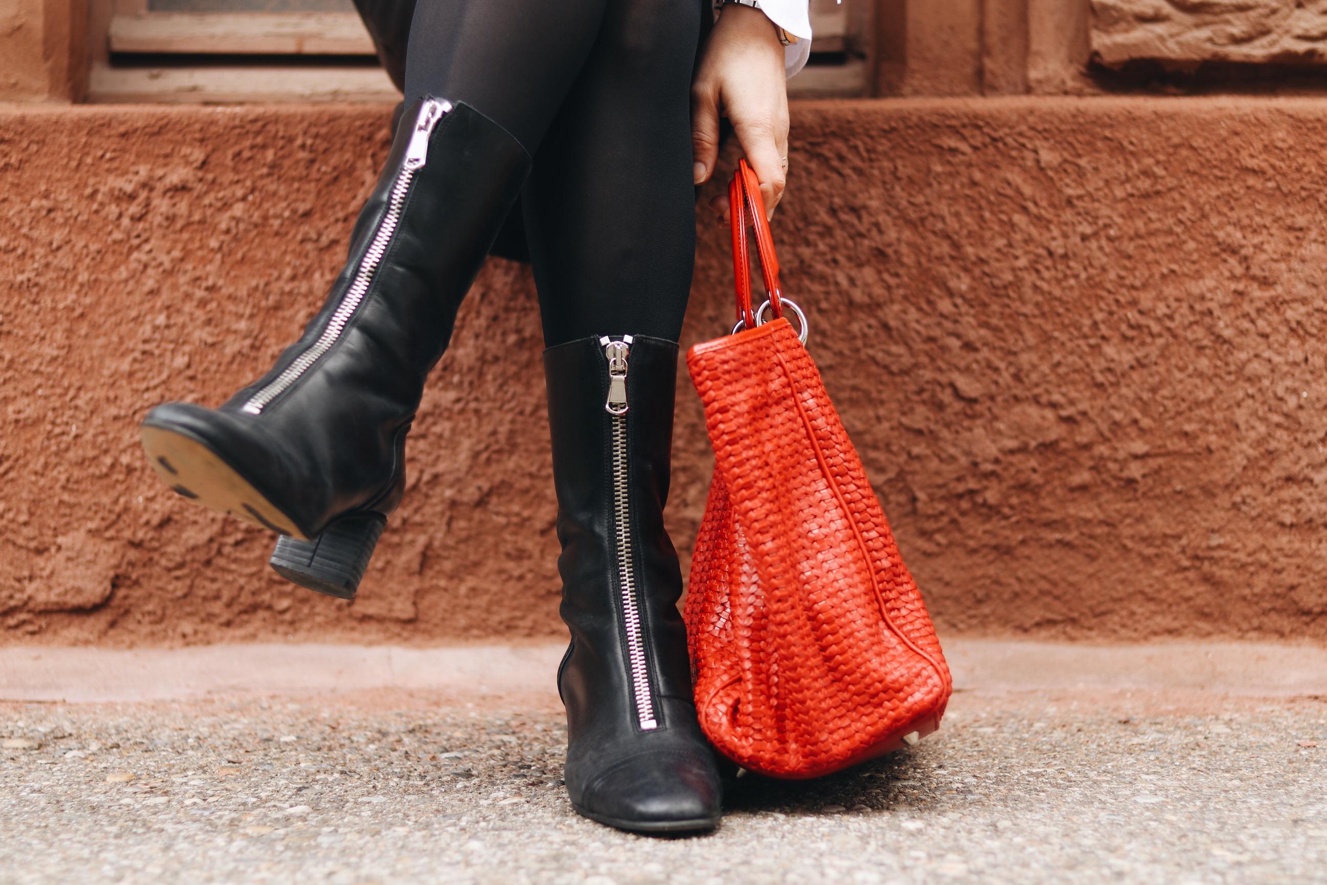 Modeblog Dior Tasche kombinieren Stiefeletten Fashionblog Instagram Pinterest