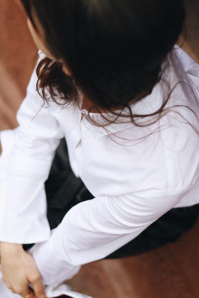 weisse Bluse kombinieren blog Damen Modeblog