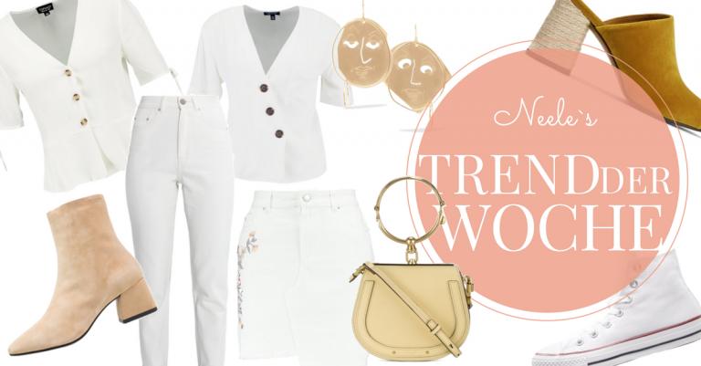 All White Modetrend Sommer 2018 heute auf meinem Modeblog Weiß kombinieren how to wear