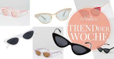 Der Modetrend Cat Eye Sonnenbrille auf meinem Modeblog