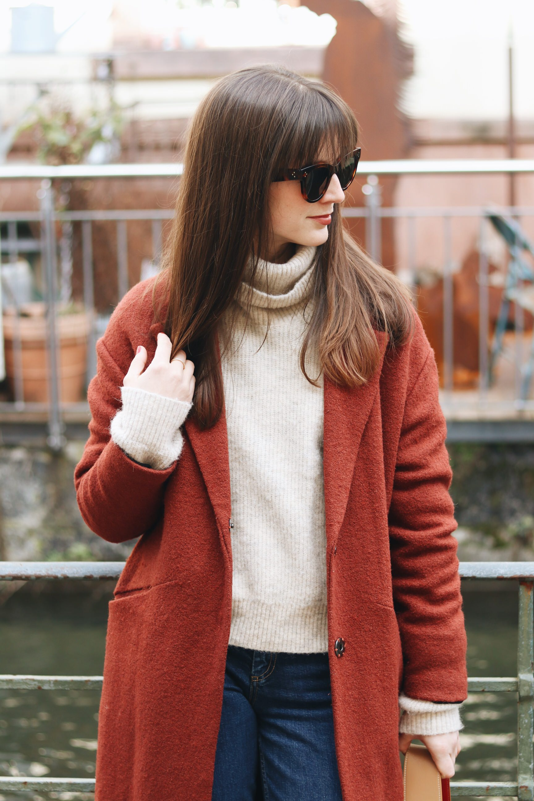 Céline Sonnenbrille Winter Outfit Blog Modeblog Wintermantel Modebloggerin