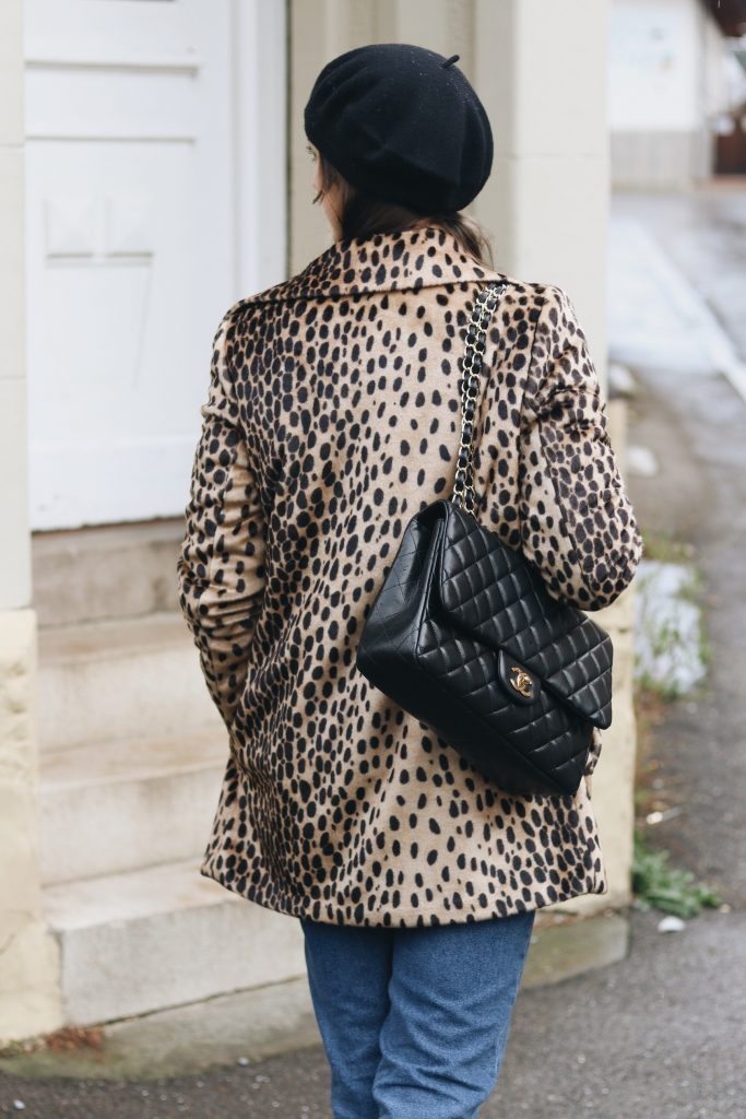 Leomantel Streetstyle Look Modeblogger Chanel Tasche French Chic