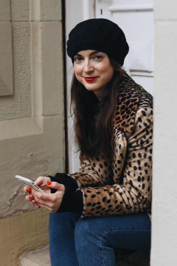 Leomantel kombinieren Blog Outfit Ideen Winter High Waist Hose Fashionblog