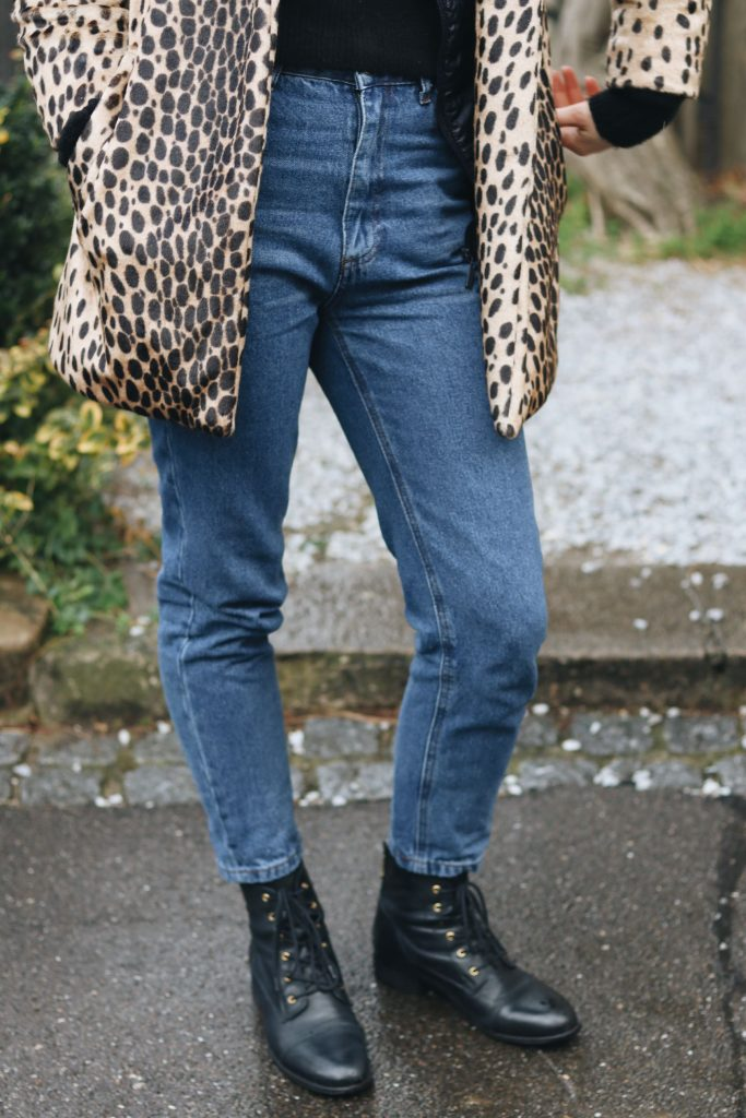 High Waist Hose kombinieren Leomantel Modeblog Outfit Streetstyle Instagram