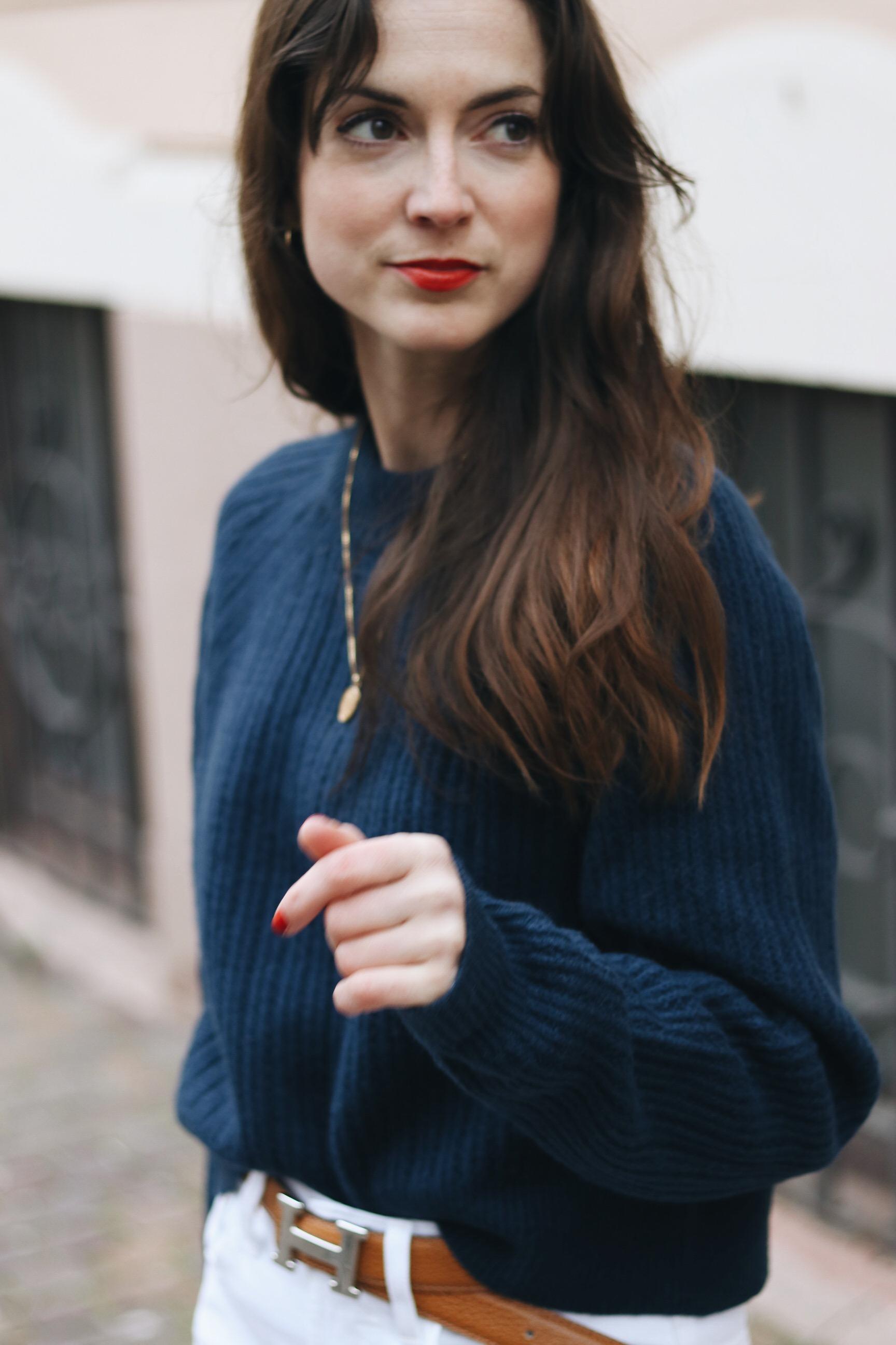 Winteroutfit Blog Ideen Streetstyle modern cool Strickpullover