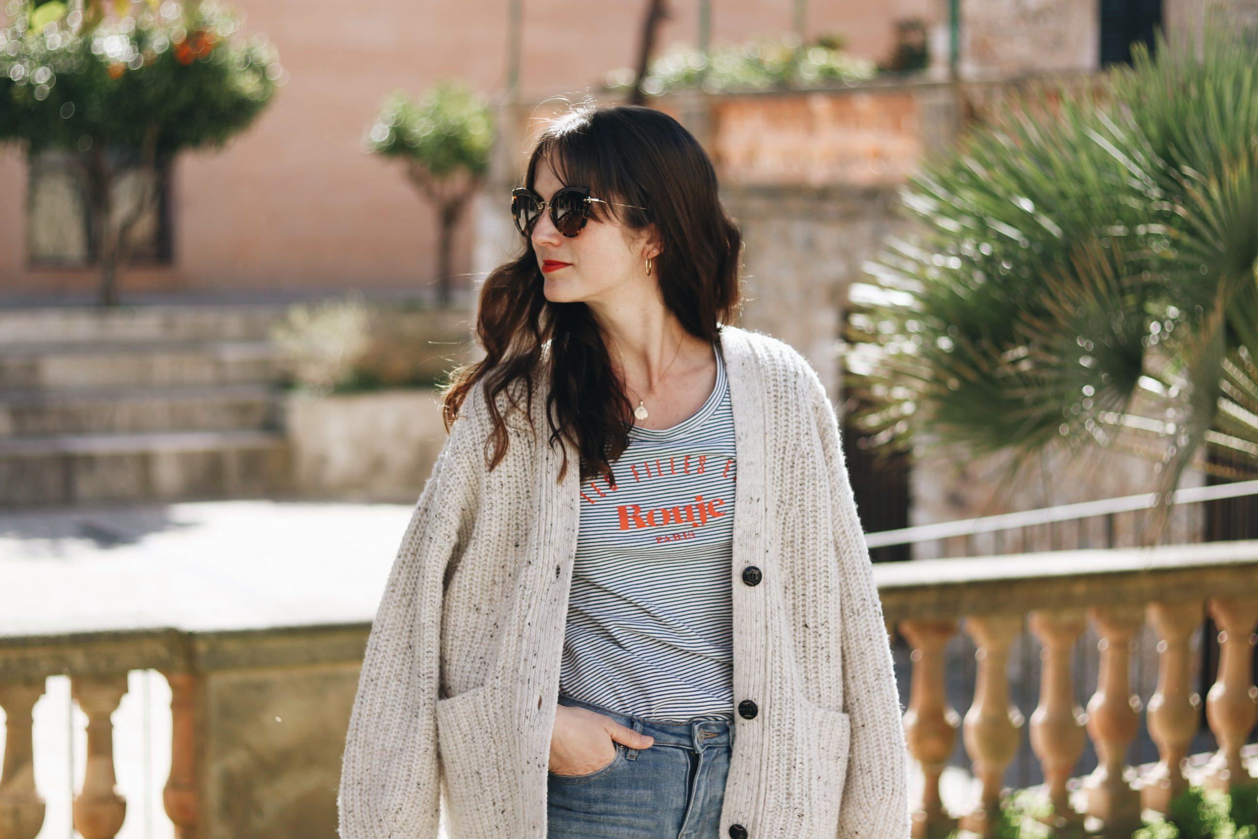 Cardigan Outfit kombinieren Modetrends Modeblog deutsch