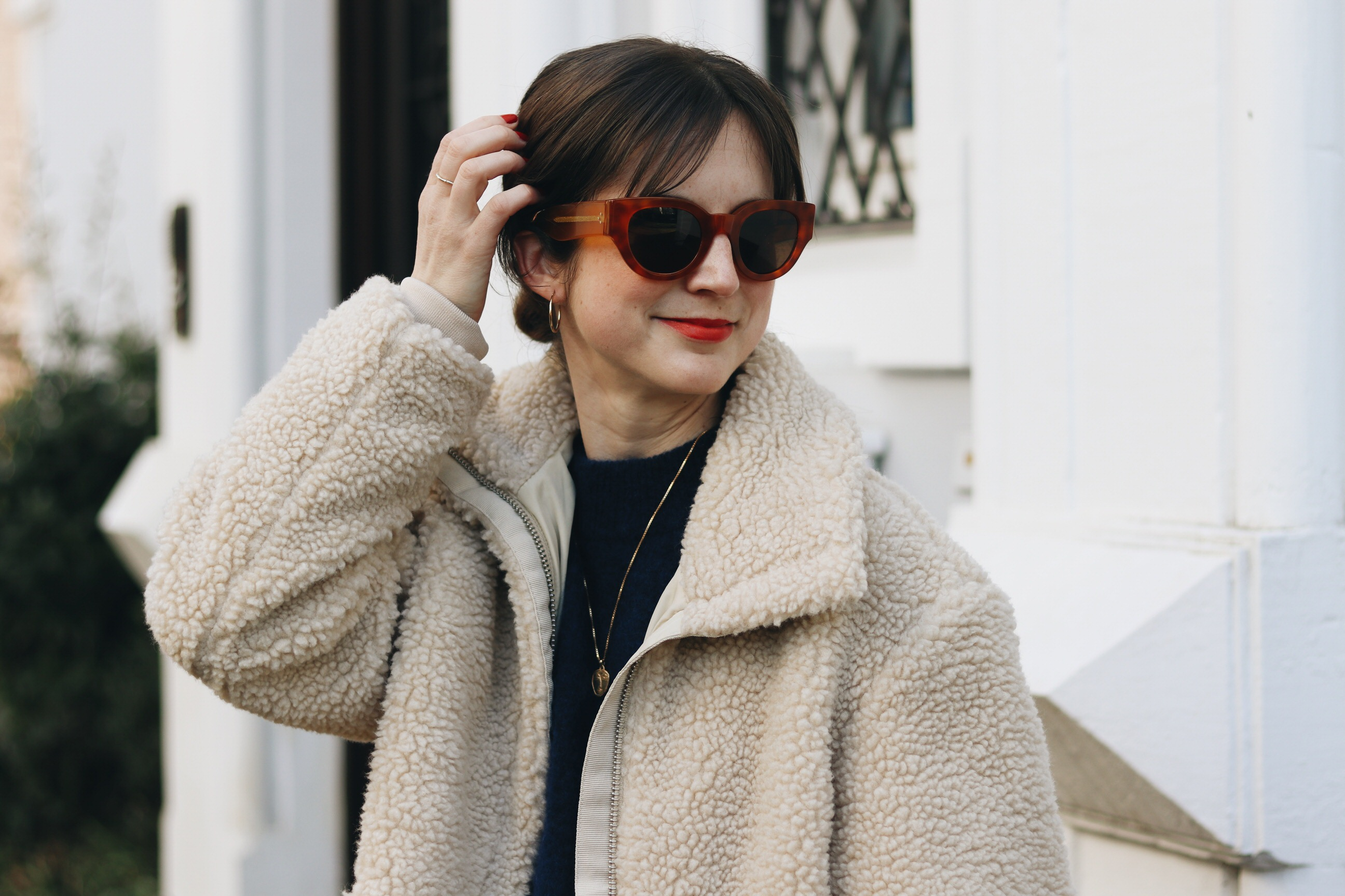 Celine Sonnenbrille French Chic Winter Look Modeblog Neele
