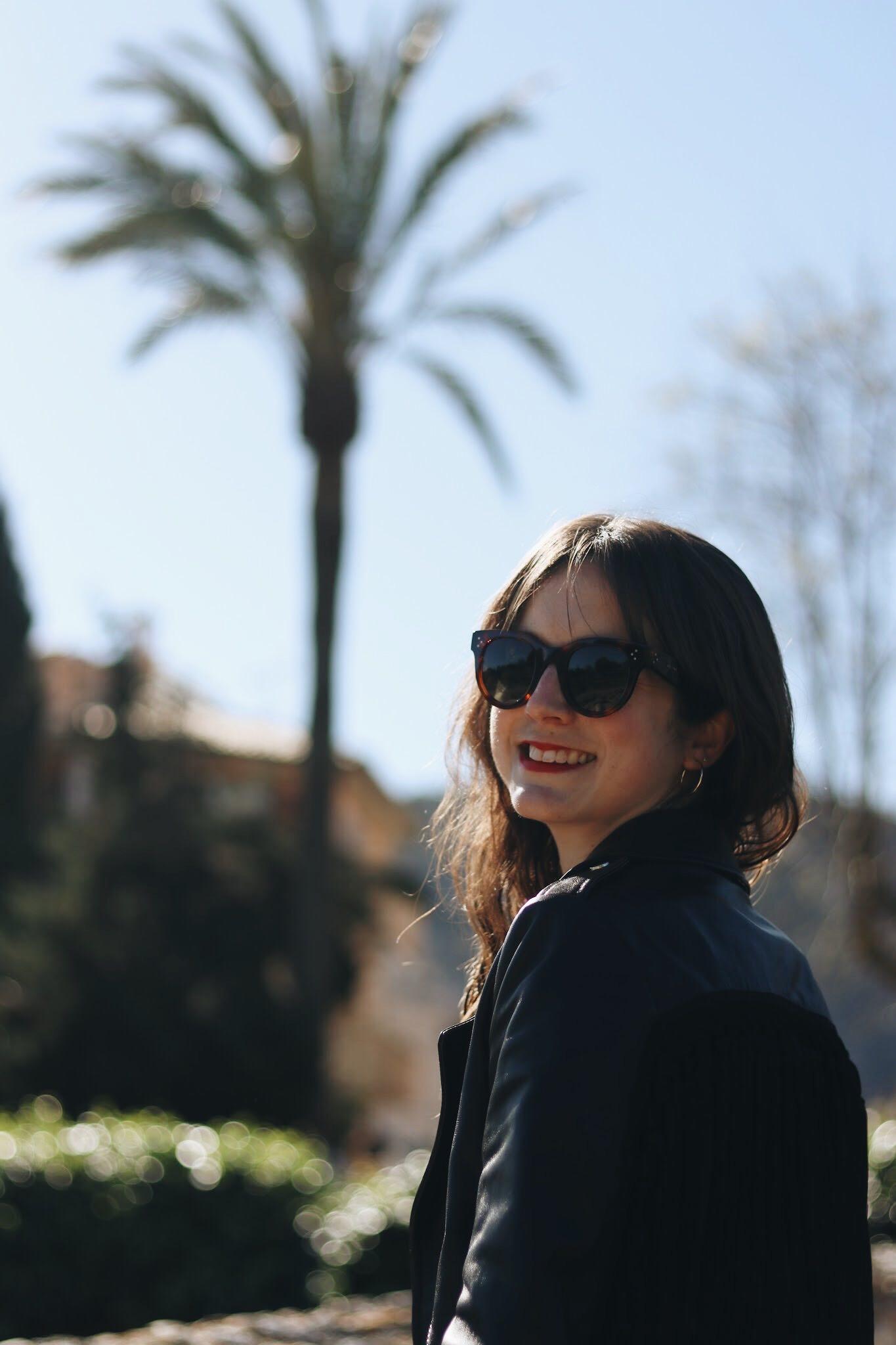 Celine Sonnenbrille Modeblog Blog deutsch Fransen Lederjacke