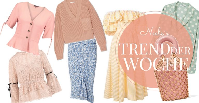 Pastellfarben der Modetrend 2018 auf meinen Modeblog How to Wear Tipps Pastellfarben kombinieren