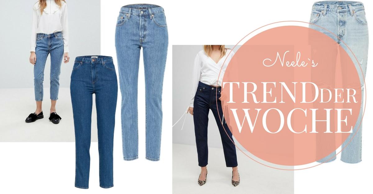 Gerade geschnittene Jeans der Modetrend auf meinem Modeblog