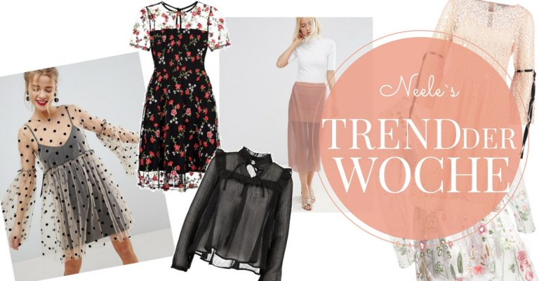 Der Modetrend Transparenz auf meinem Modeblog