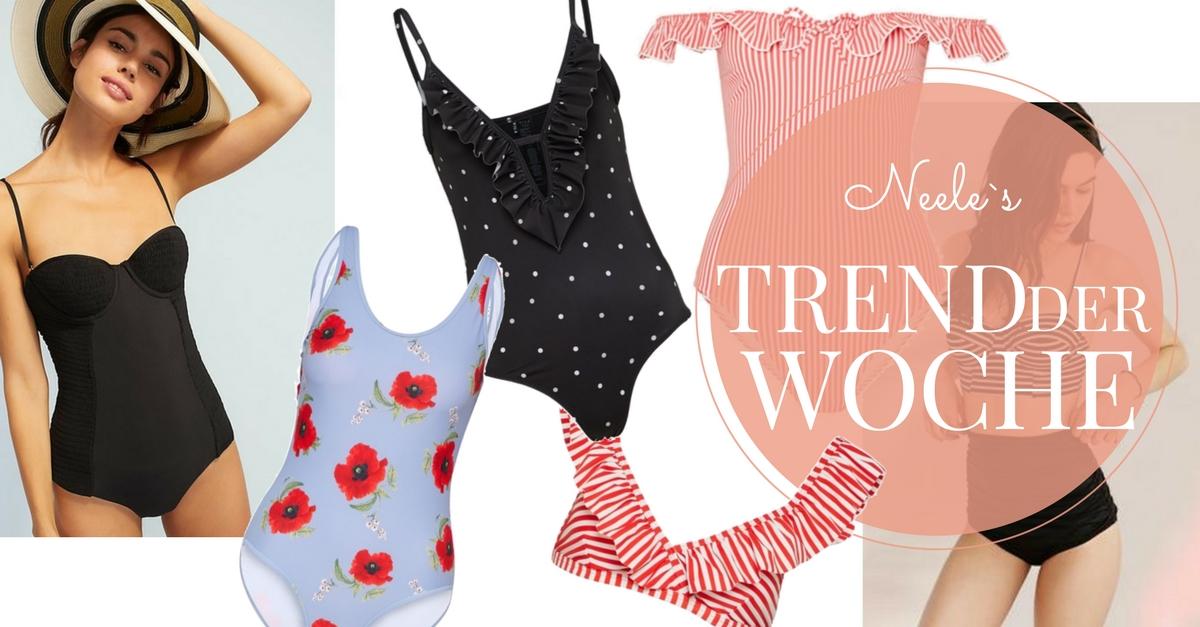 Bademodentrends 2018 auf meinem Modeblog Bikinis und Badeanzüge