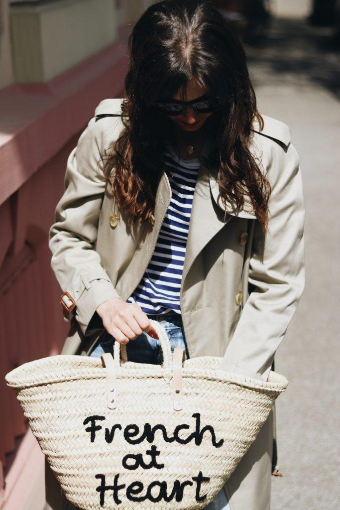 Burberry Mantel Korbtasche French chic Blog Modeblog Outfit Neele Freiburg