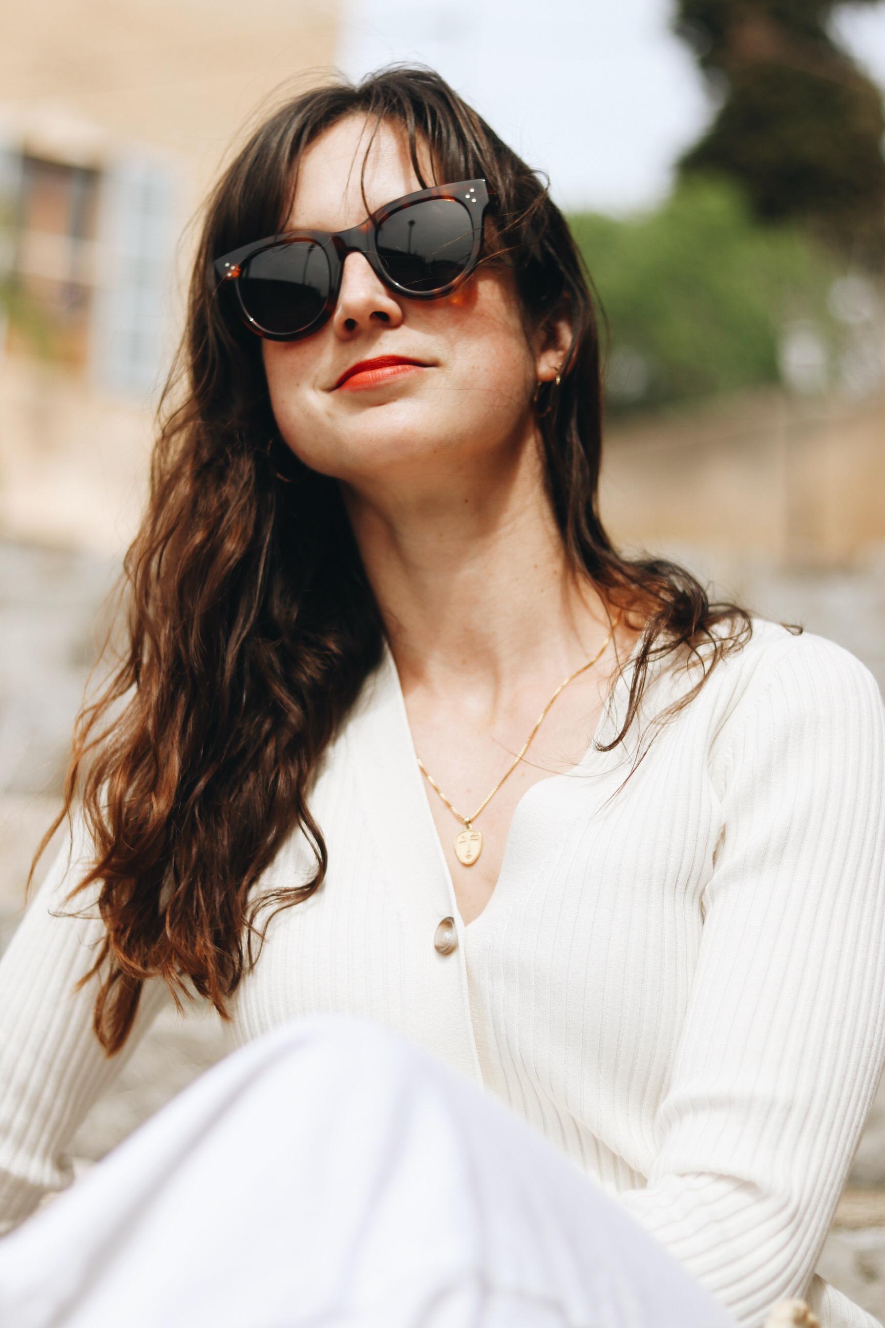 Celine Sonnenbrille Blog Modeblog Outfit Sommer Mallorca