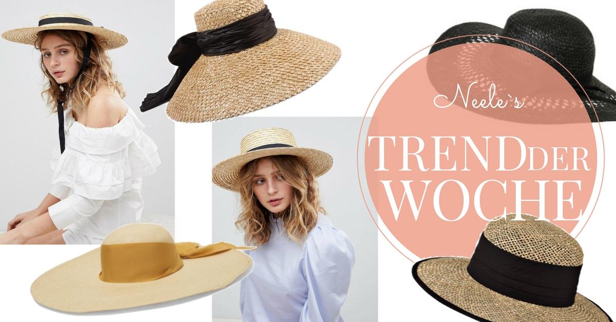 Der Sommertrend Strohhüte auf meinem Modeblog