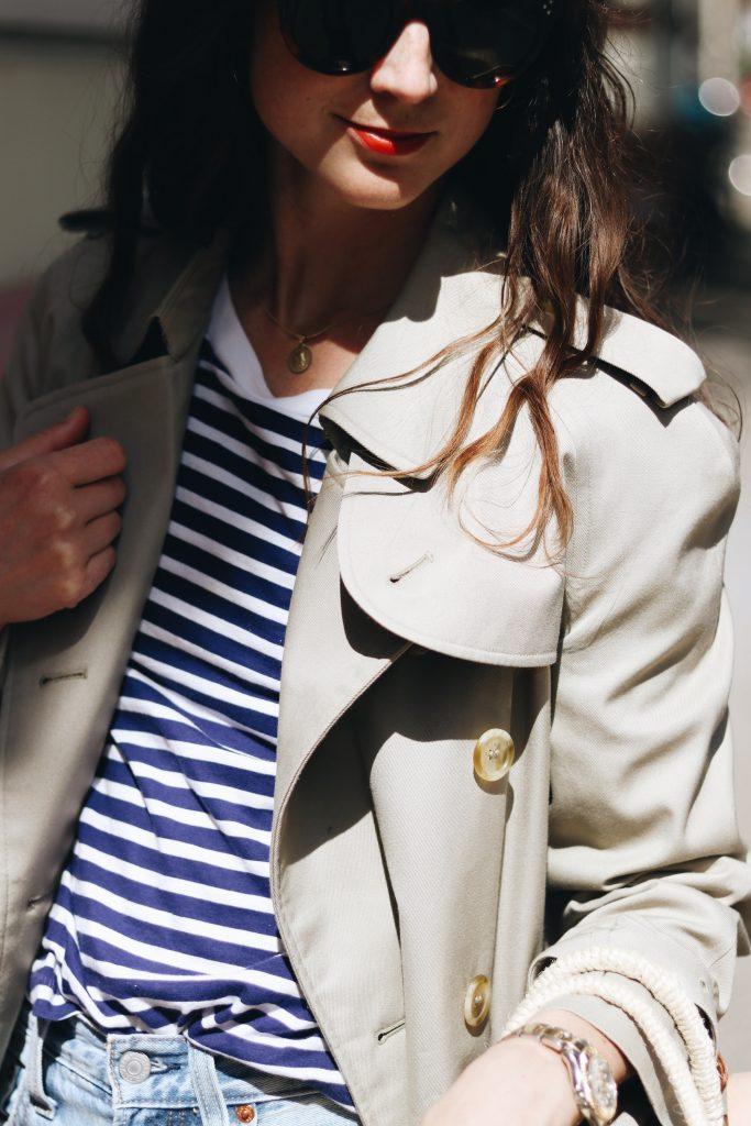 Burberry Trenchcoat kombinieren french chic