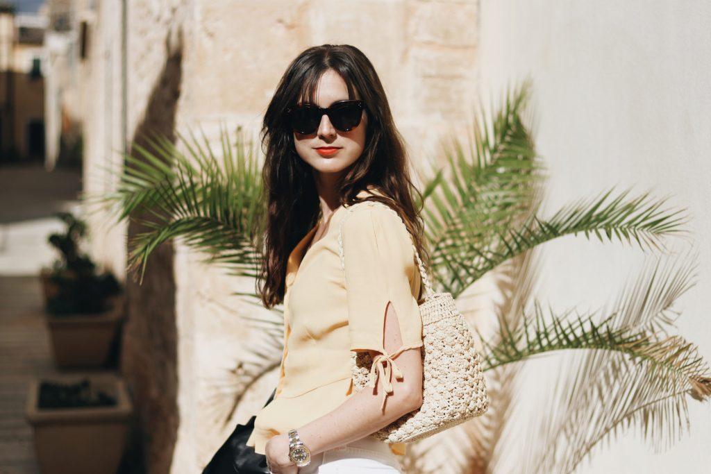 Gelb kombinieren Celine Sonnenbrille Mallorca Outfit Sommer Modetrends 2018