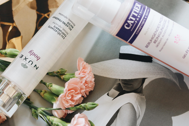 Nuxe Bodyspray und Mizellenwaschgel von Cattier Paris Beautyblog Beautytipps