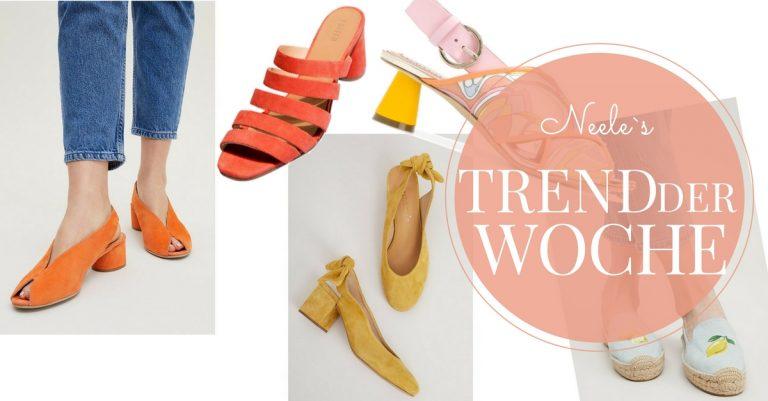 Bunte Schuhe Modetrend 2018 Schuhtrends auf meinem Modeblog