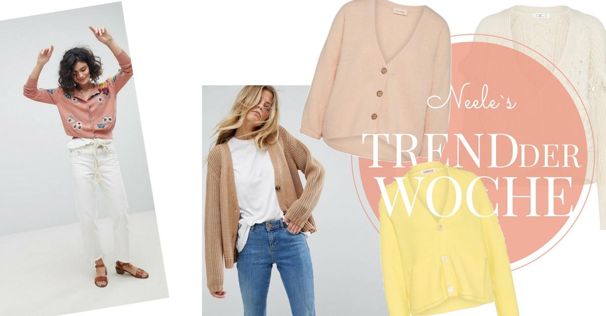 Cardigans der Modetrend für den Übergang auf meinem Modeblog