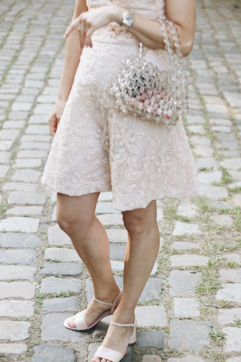 Lackschuhe Pastell Spitzenkleid Outfit Hochzeitsgast Blog