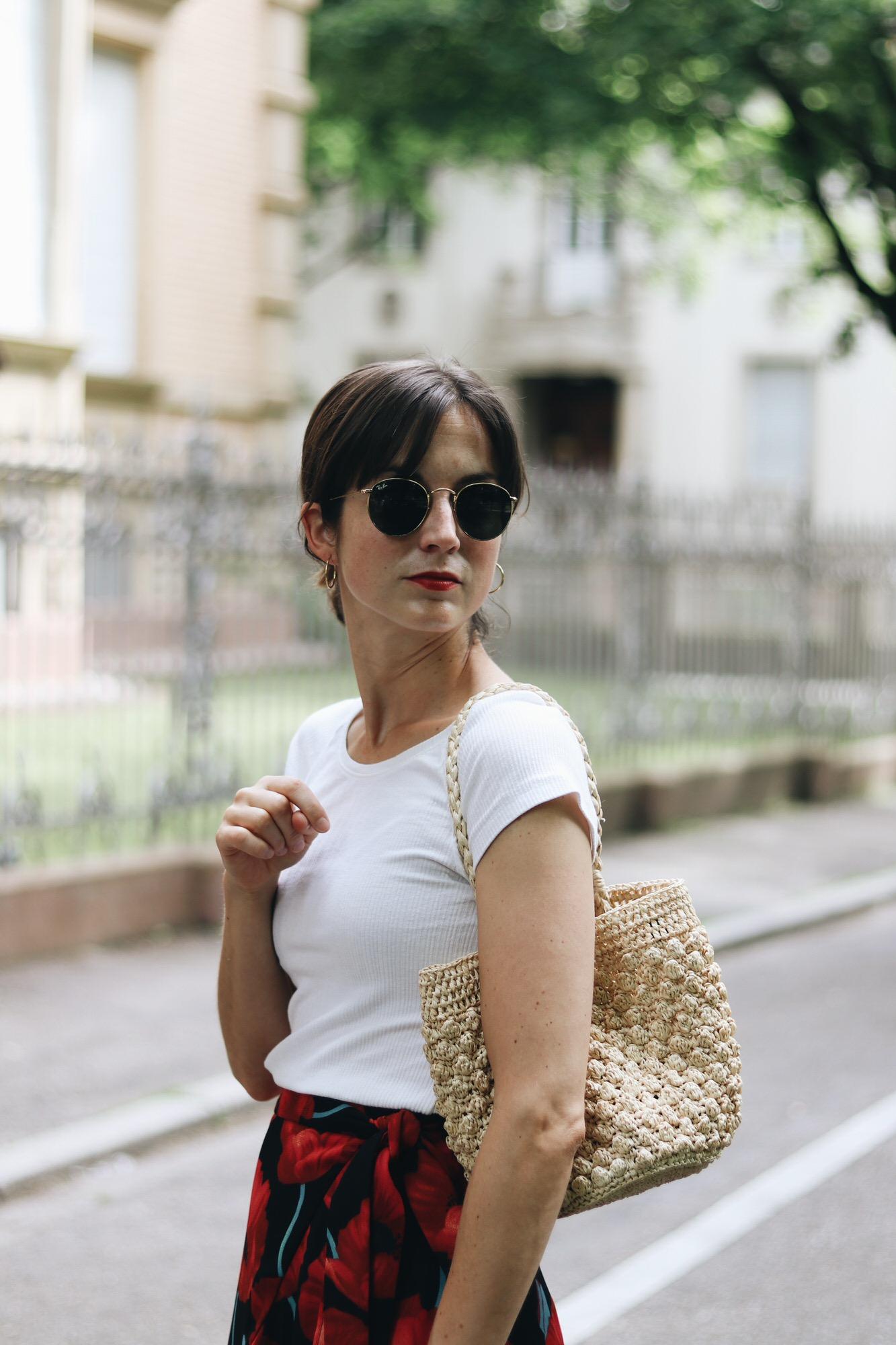 Wickelrock mit Blumenmuster auf meinem Modeblog
