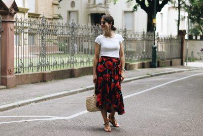 Wickelrock kombiniert für meinen Modeblog