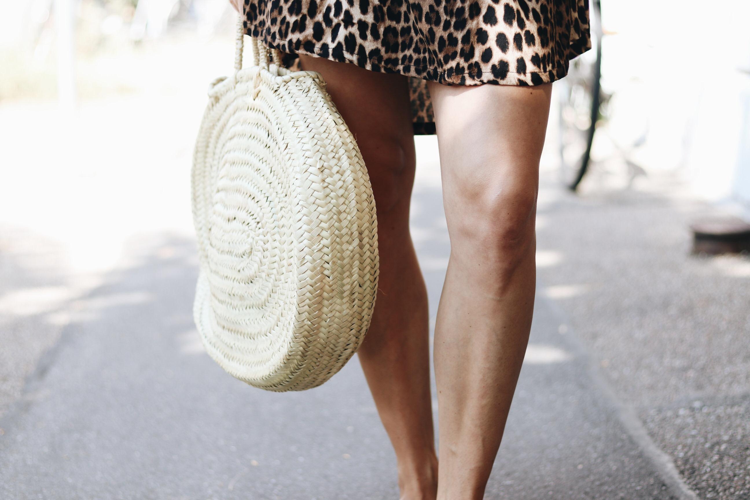 Korbtasche rund basketbag Sommer Outfit Blog Mode