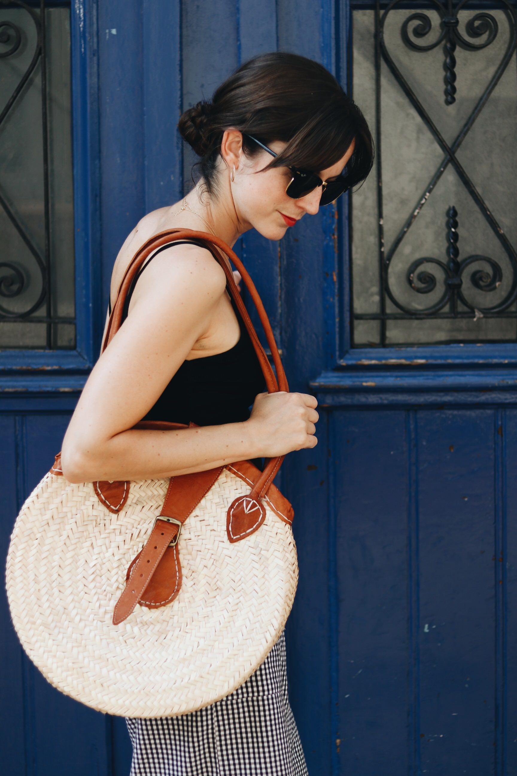 Korbtasche rund Trend Modeblog Outfit Sommer Fashionblog