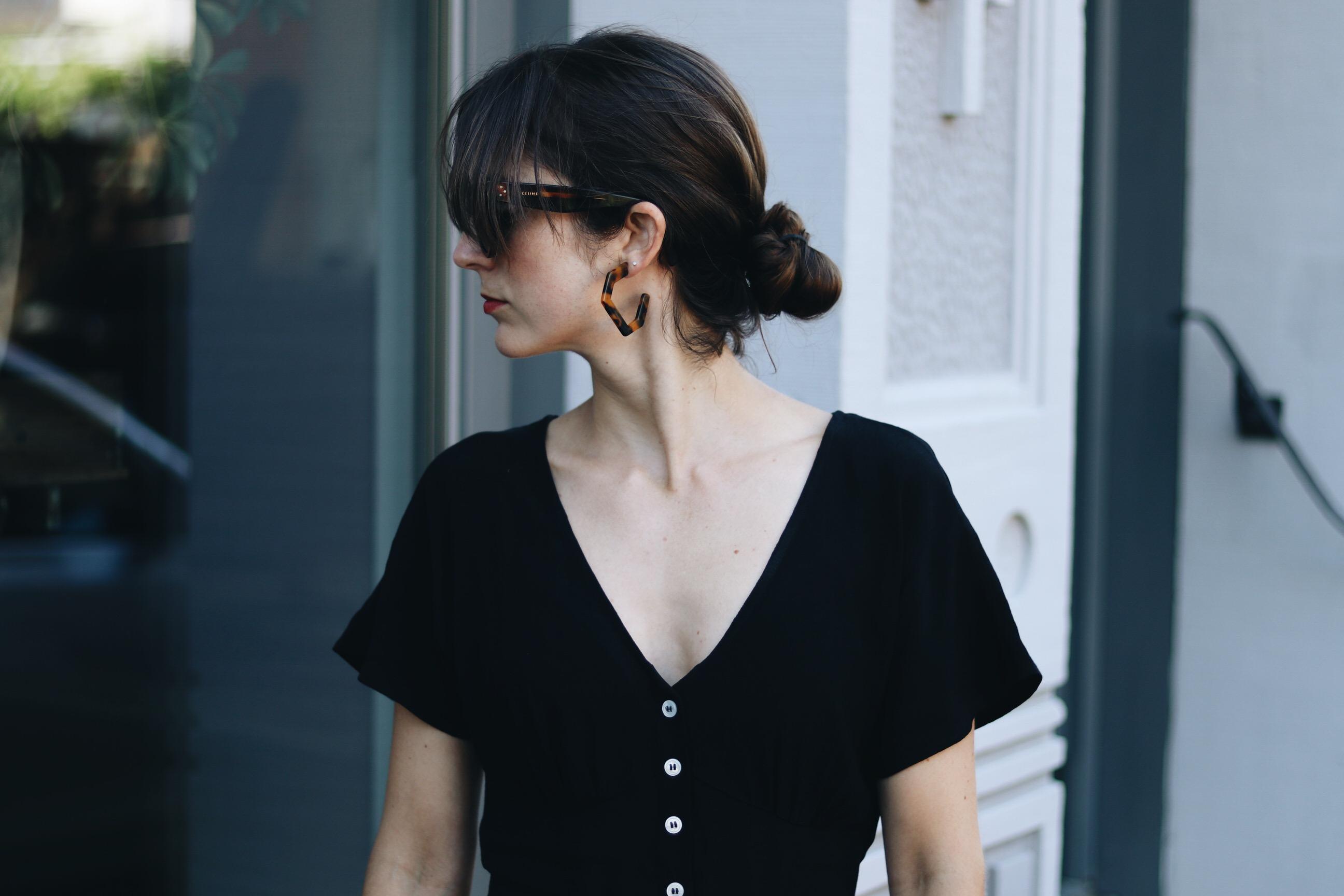 Jumpsuit schwarz Sommer Outfit Klassiker Fashionblog Mode Blog