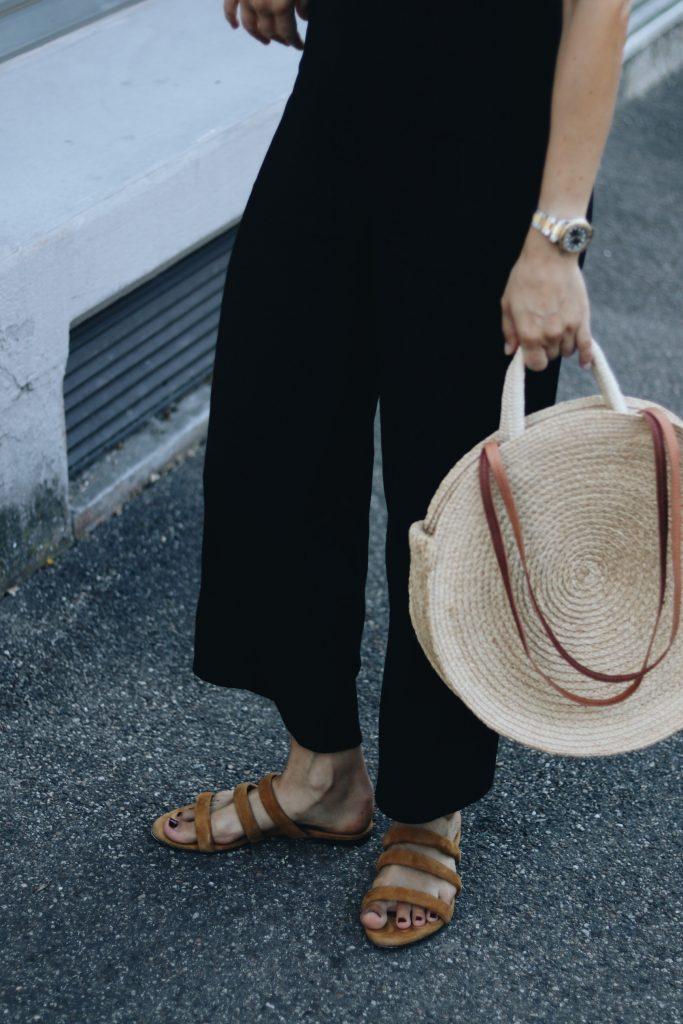 Aeyde Sandalen Korbtasche Outfit Sommer Modebloggerin Neele