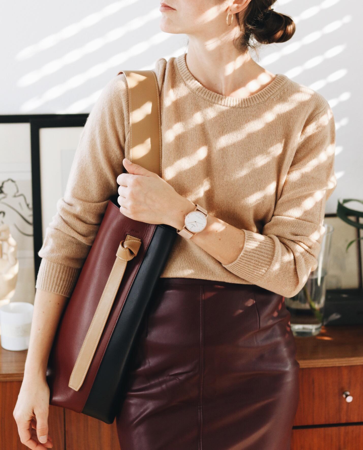 Modetrend Leder auf meinem Modeblog mit How to Wear Tipps