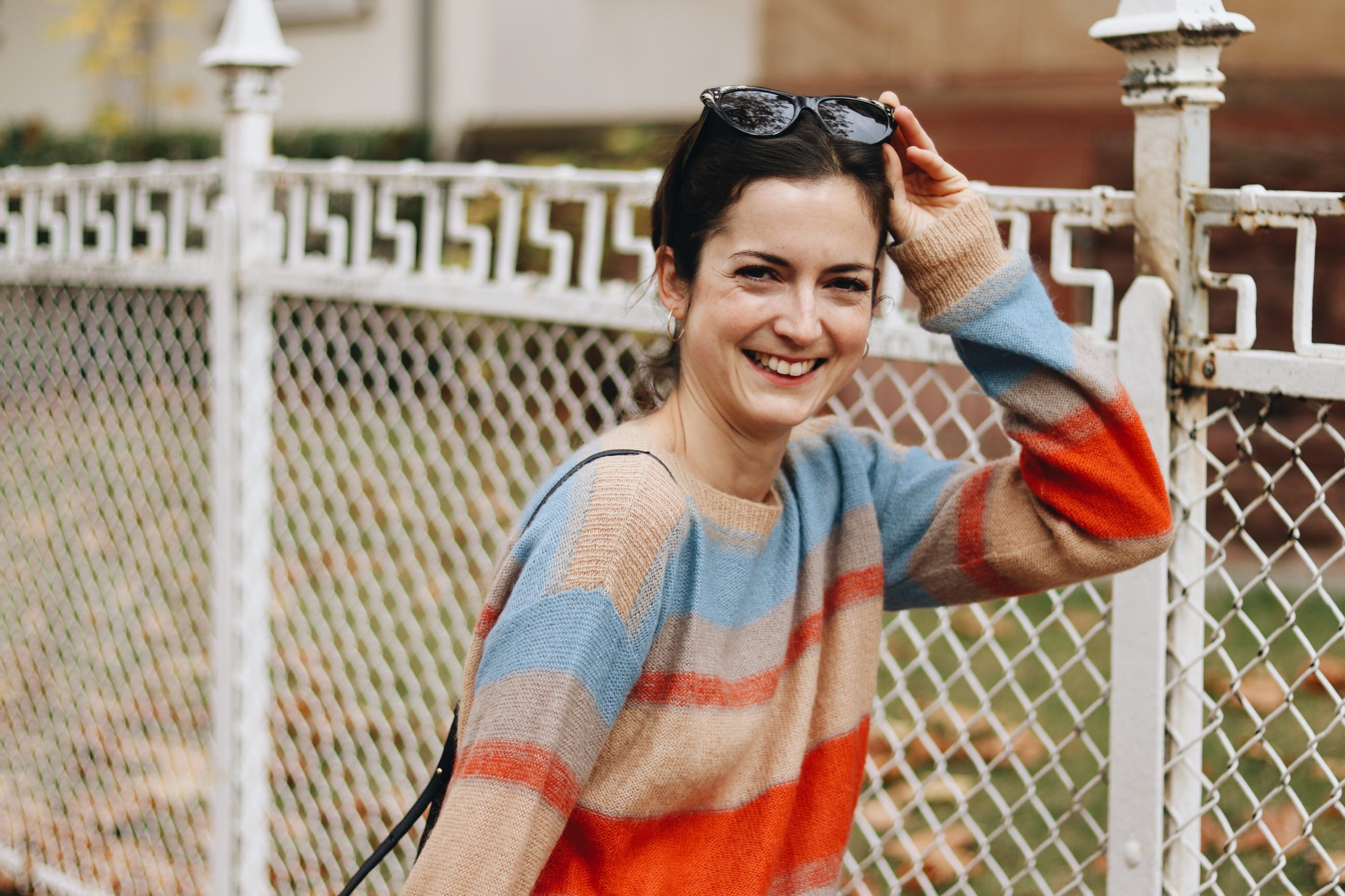 Herbst Outfit Fair Fashion Pullover Neele Modebloggerin Celine Sonnenbrille
