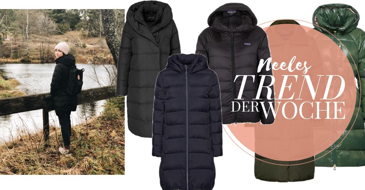 Daunenmäntel sind einer der Modetrends Herbst Winter 2018 heute auf meinem Modeblog