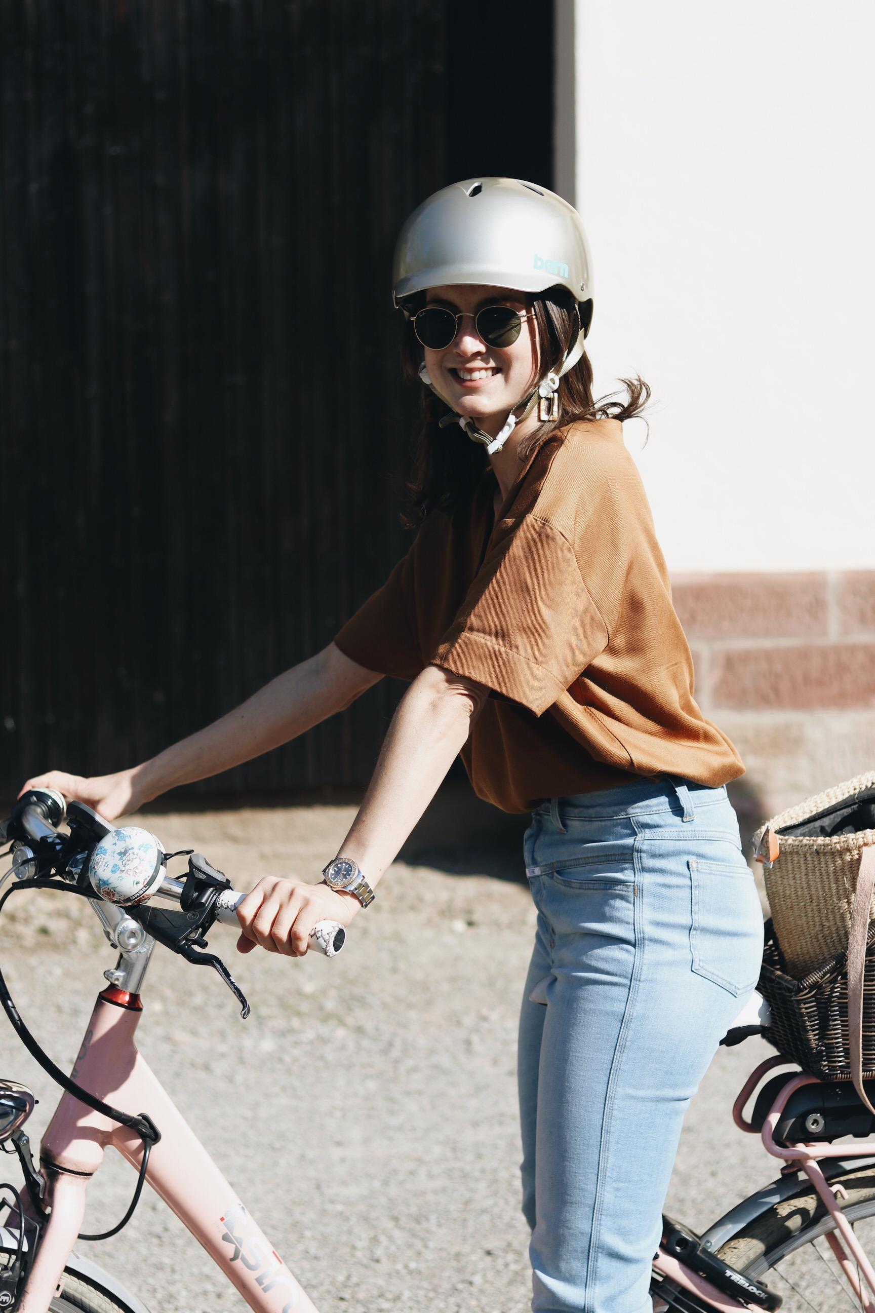 modischer fahrradhelm